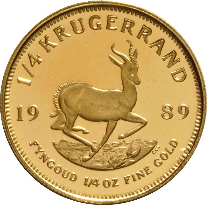 1989 Proof Quarter Ounce Gold Krugerrand