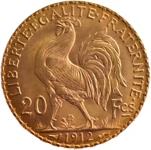 20 French Francs - Marianne Rooster