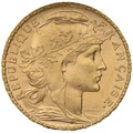 1903 20 French Francs - Marianne Rooster