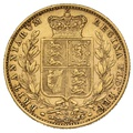 1879 Gold Sovereign - Victoria Young Head Shield Back - S