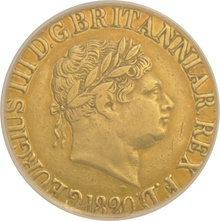1820 Gold Sovereign - George III CGS30 EF40