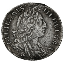 1697B William III Silver Sixpence - Bristol Mint
