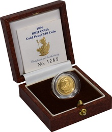1996 Proof Britannia Tenth Ounce Boxed