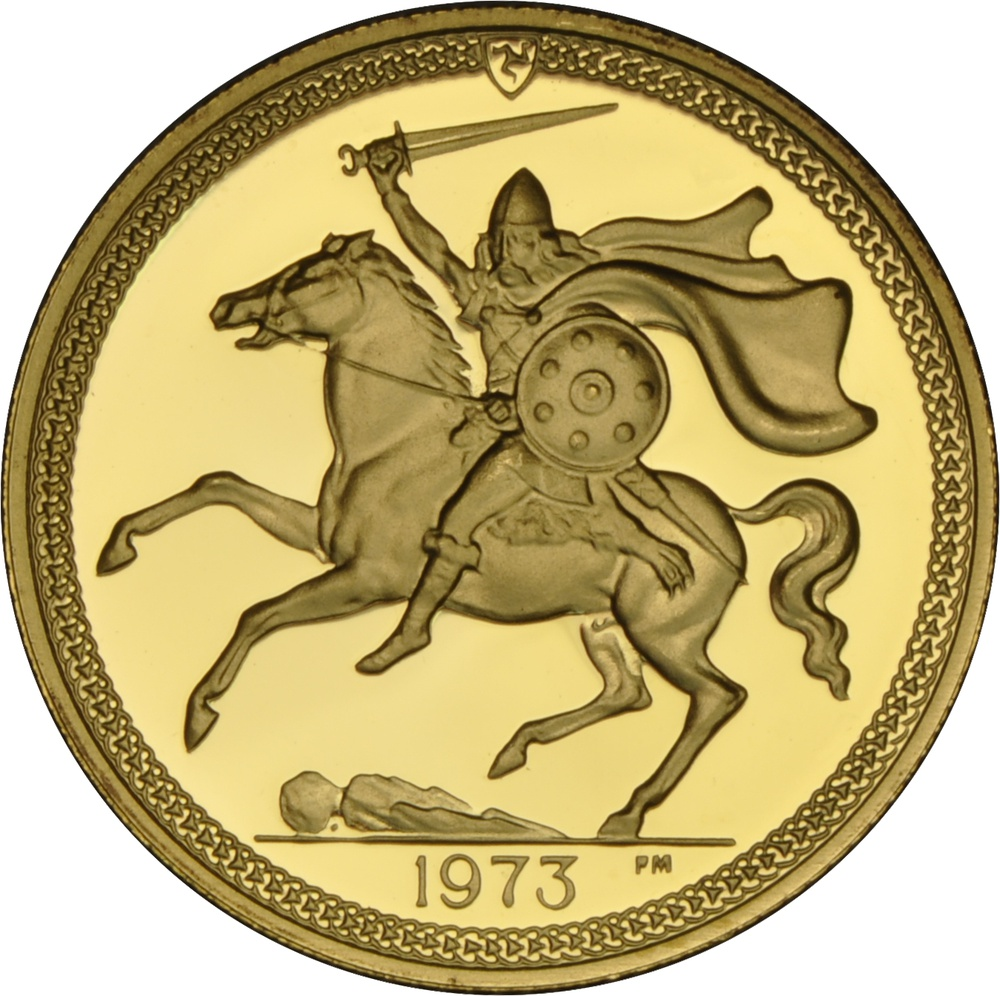 1973 Gold Sovereign - Elizabeth II Decimal Portrait - Isle of Man Proof