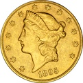 1895 $20 Double Eagle Liberty Head Gold Coin, San Francisco