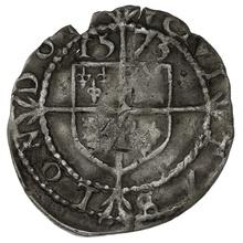 1573 Elizabeth I Silver Three Farthings - mm Acorn