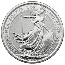 2017 1oz Privy Rooster Edge British Britannia Silver Coin