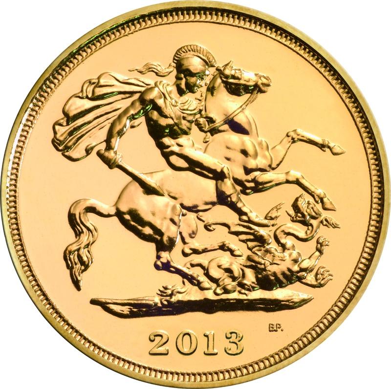 2013 Gold Half Sovereign Elizabeth II Fourth Head