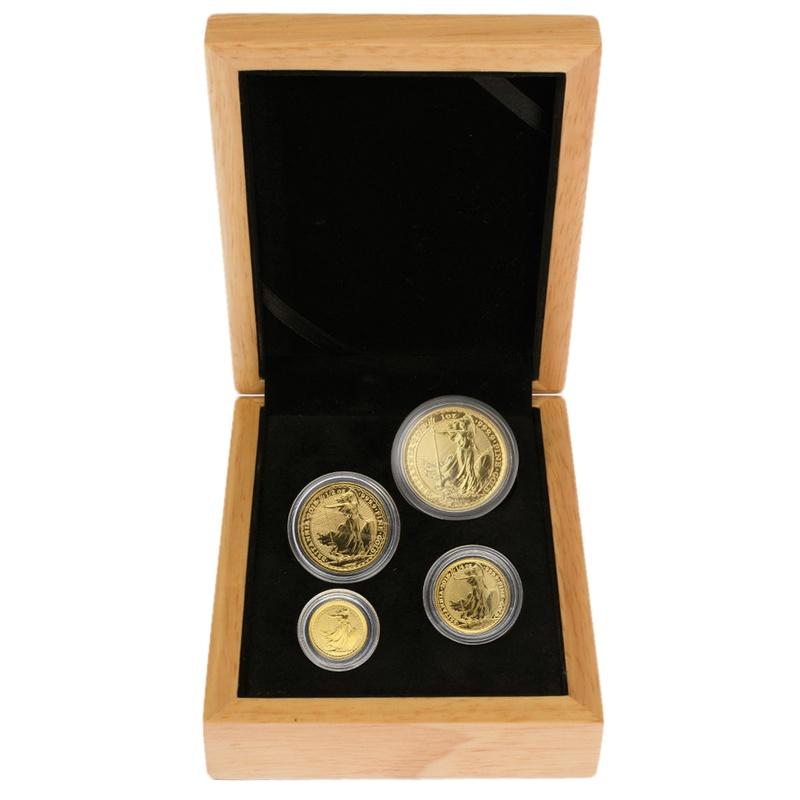 2018 Britannia Bullion 4-Coin Set Gift Boxed