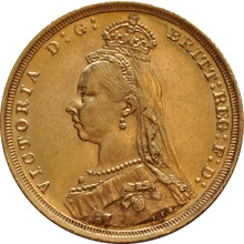 1887 Gold Sovereign - Victoria Jubilee Head - London