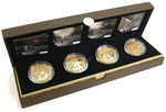 Countdown to London 2012 Gold Proof £5 four coin set Boxed