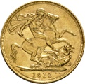 1916 Gold Sovereign - King George V - S