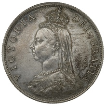 1887 Queen Victoria Silver Florin - Extremely Fine