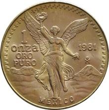 1oz 1981 Mexican Libertad Gold Coin