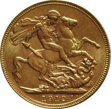 1912 Gold Sovereign - King George V - P