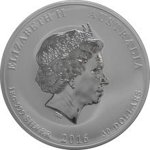 2016 1kg Kilo Australian Lunar Year of the Monkey Silver Coin