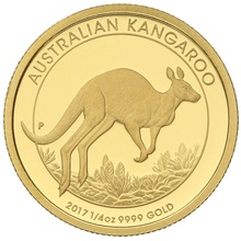 Australian Kangaroo 2017 1/4oz Gold Proof coin Boxed