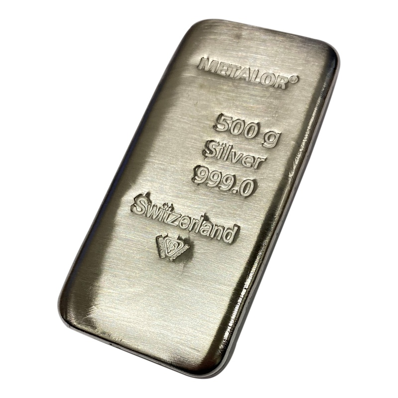Metalor 500 Gram Silver Bars