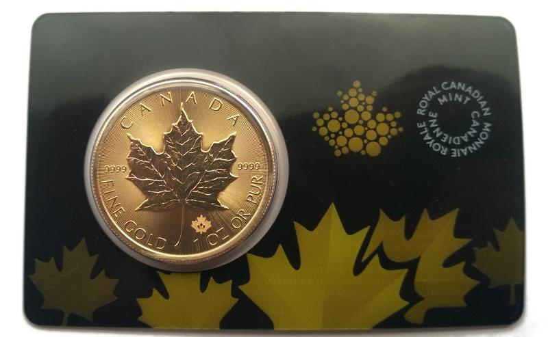 2015 1oz Gold Canadian Maple Sealed