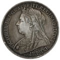 1900 Queen Victoria Silver Crown-About Fine