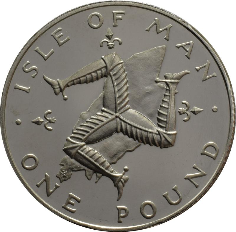 Isle Of Man One Pound Proof Platinum Coin - Triskellion on Island