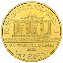 2020 Half Ounce Austrian Gold Philharmonic Coin