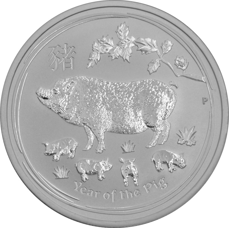 2019 1/2oz Perth Mint Year of the Pig Silver Coin