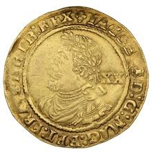 """1613 James I Gold Laurel mm """"Trefoil"""" [Grade]"""