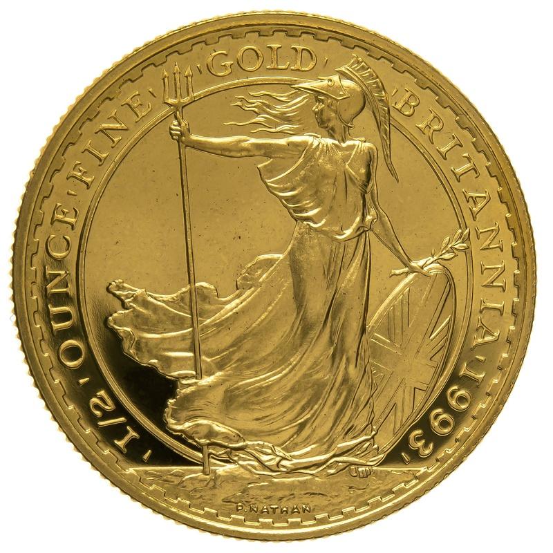 1993 Half Ounce Proof Britannia Gold Coin