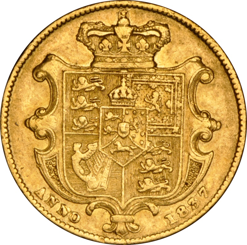 1837 Gold Sovereign - William IV NGC VF30