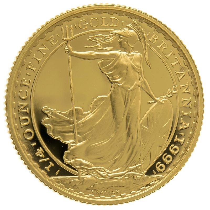 1999 Quarter Ounce Proof Britannia Gold Coin