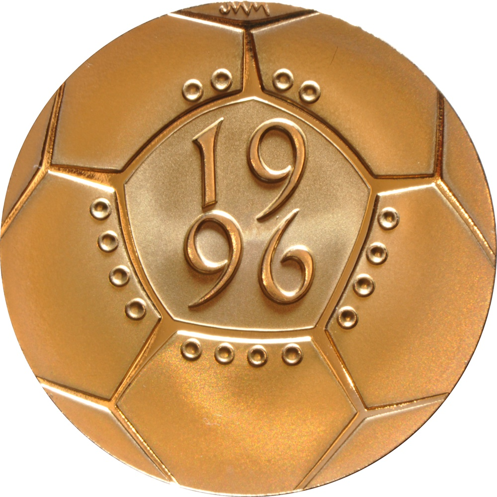 1996 £2 Two Pound Proof Gold Coin: Celebration of Football Boxed