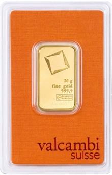 Valcambi 20 Gram Gold Bar