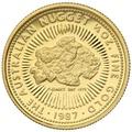 1987 Proof Quarter Ounce Gold Australian Nugget