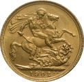 1902 Gold Sovereign - King Edward VII - S