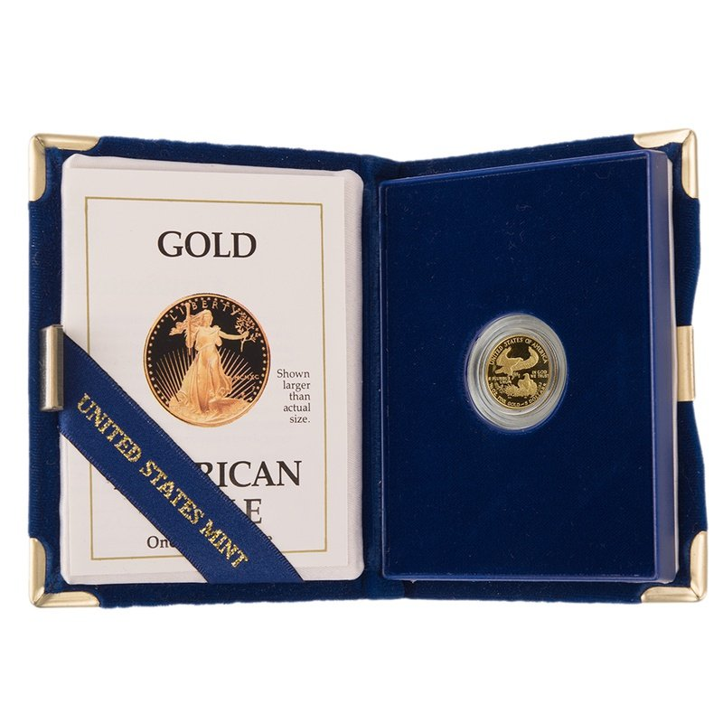 1990 Proof Tenth Ounce Eagle Gold Coin Boxed
