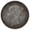 1872 Queen Victoria Silver Shilling