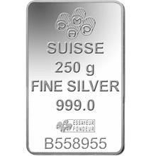 PAMP 250 Gram Silver Bar Minted
