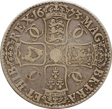 1673 Charles II Crown - Nice Fine