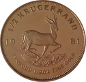 1981 Proof Half Ounce Krugerrand Gold Coin