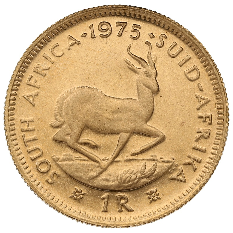 1975 1R 1 Rand coin South Africa