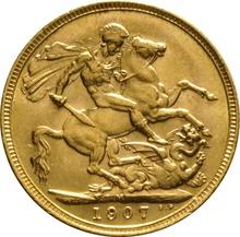 1907 Gold Sovereign - King Edward VII - M