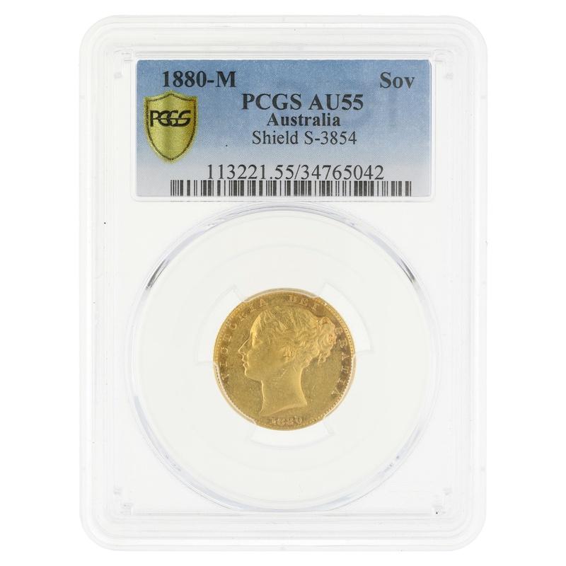 1880 Gold Sovereign Melbourne