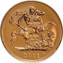 2011 Gold Half Sovereign  Elizabeth II Fourth Head