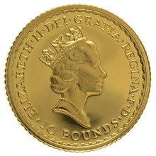 1990 Tenth Ounce Proof Britannia Gold Coin