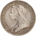1895 Victoria Old Head Silver Crown