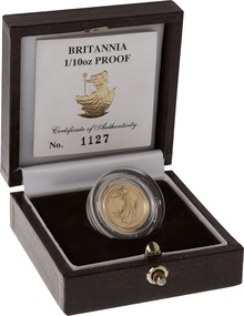 1990 Proof Britannia Tenth Ounce Boxed