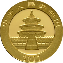 2017 3 gram Gold Chinese Panda Coin