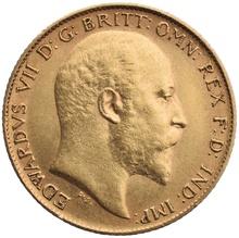 1908 Gold Half Sovereign - King Edward VII - S