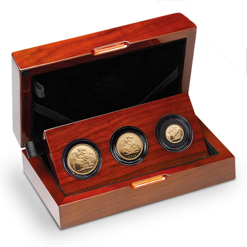 2014 Gold Proof Sovereign Three Coin Set - Fourth Portrait Boxed